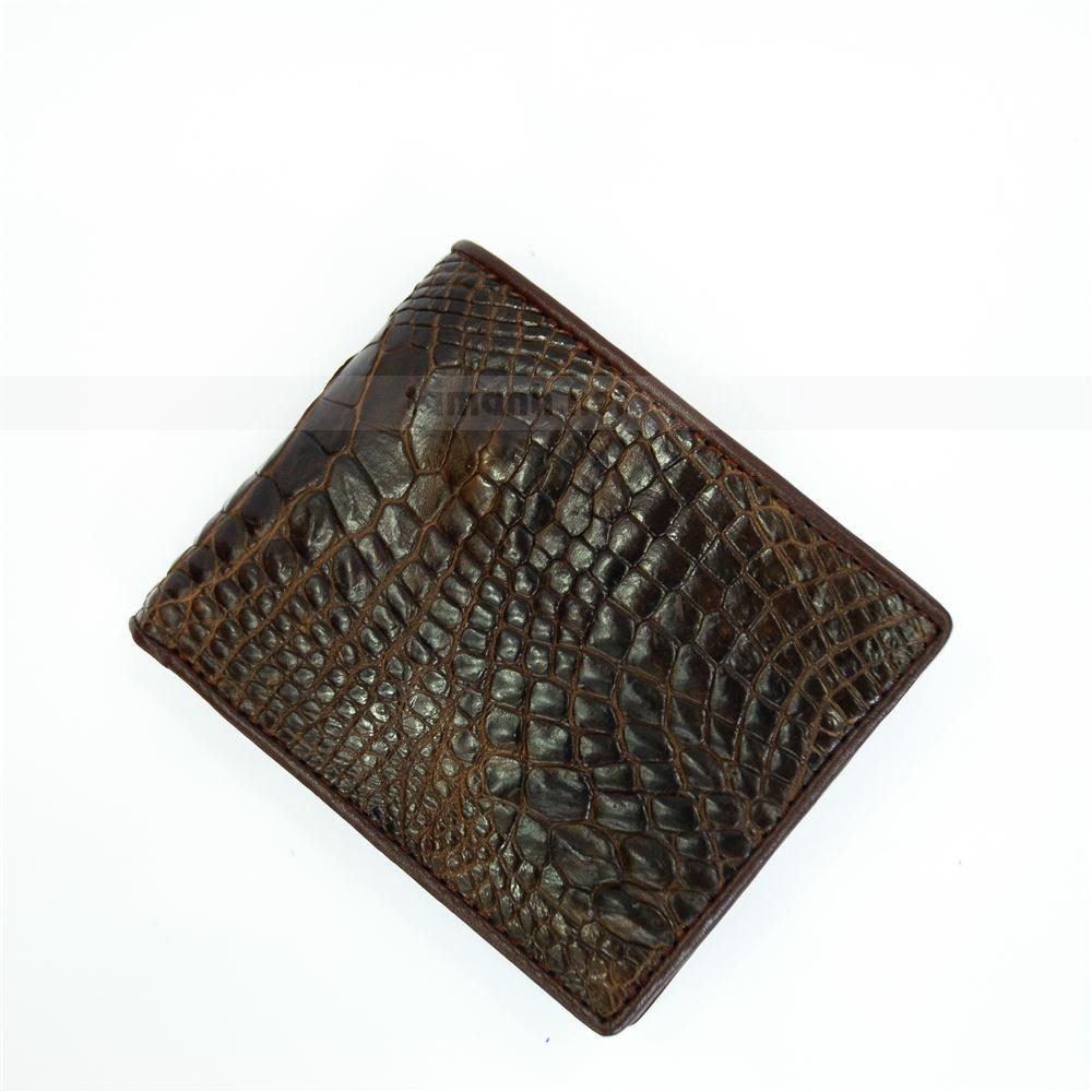 Ví da cá sấu màu cafe đậm VTA790N-C-CF