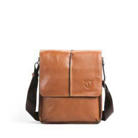 Túi đeo ipad quai chéo màu nâu DB95-N