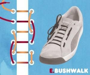 Kiểu buộc giày bushwalk