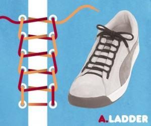 Cách buộc dây giày 3 lỗ