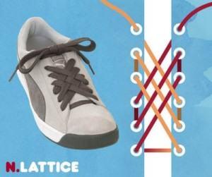 Buộc dây giày kiểu Lattice