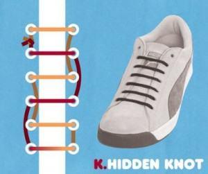 Kiểu buộc giày Hidden Knot