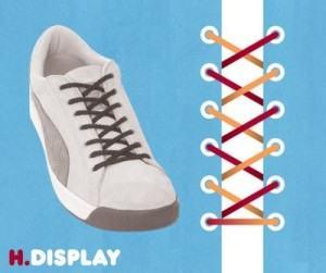 Buộc dây giày kiểu Display