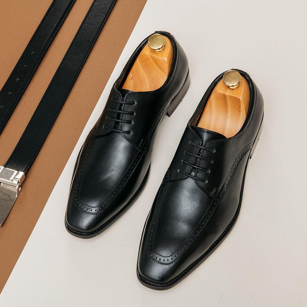 Giày tây da trơn buộc dây GNTA0926-D
