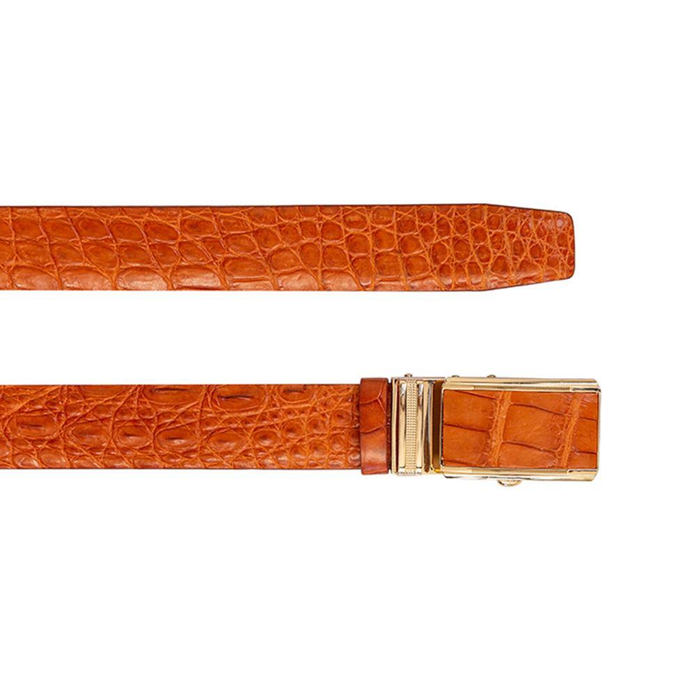 Thắt lưng nam da cá sấu dây nối màu nâu đỏ DTA990-02AB-L-ND