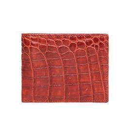 Ví da cá sấu chân bụng màu nâu đỏ VTA790N-CB-NDO