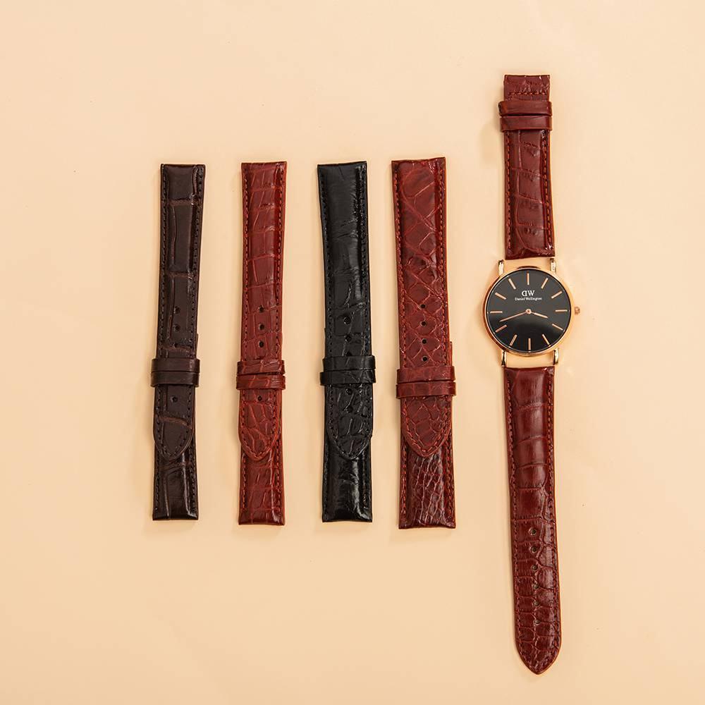 Dây da đồng hồ da cá sấu DDHTA-D-MM