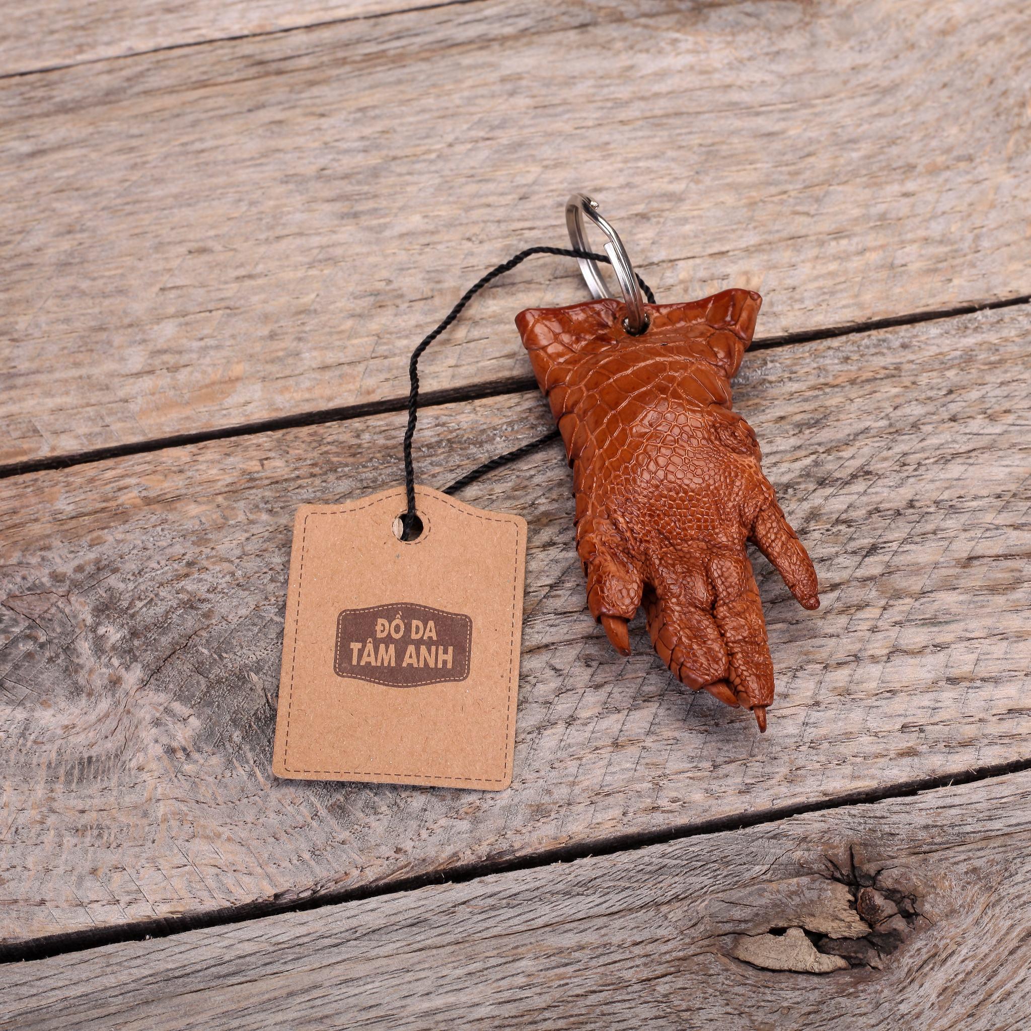 Móc chìa khóa da cá sấu cao cấp MKMONG-NAU
