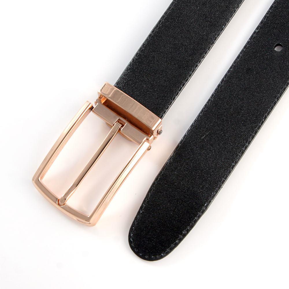Thắt lưng nam da bò mặt khóa xỏ kim D480-3189V