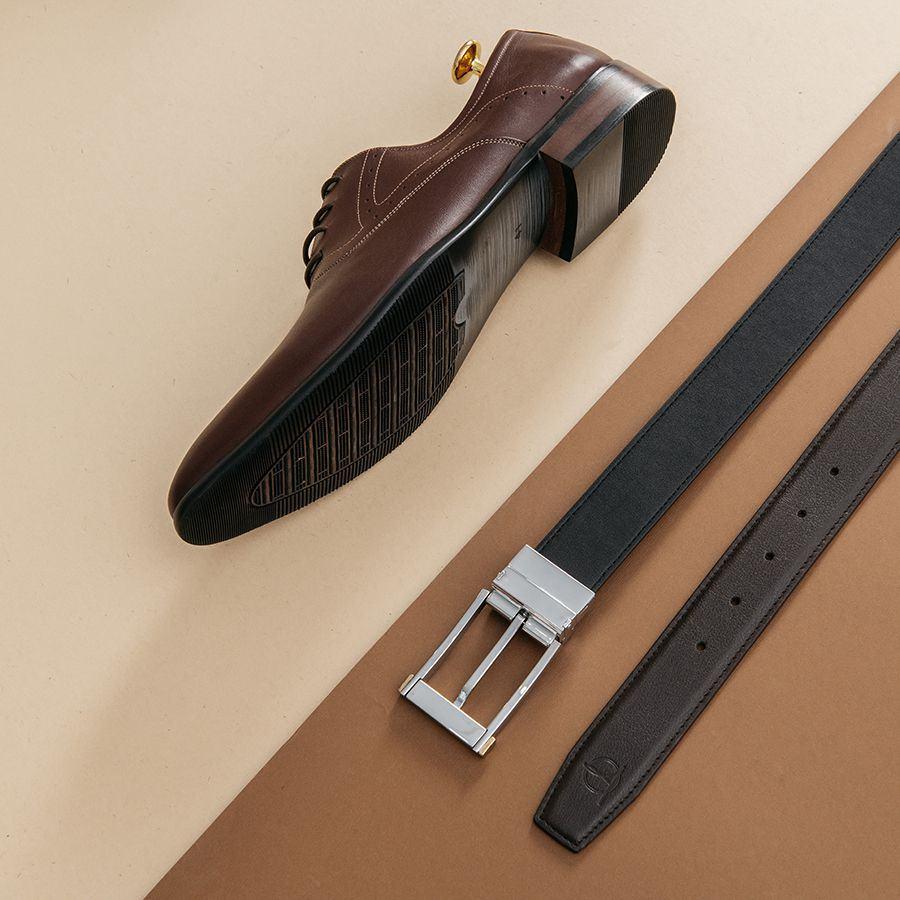 Giày da nam công sở buộc dây GNTA9119-N