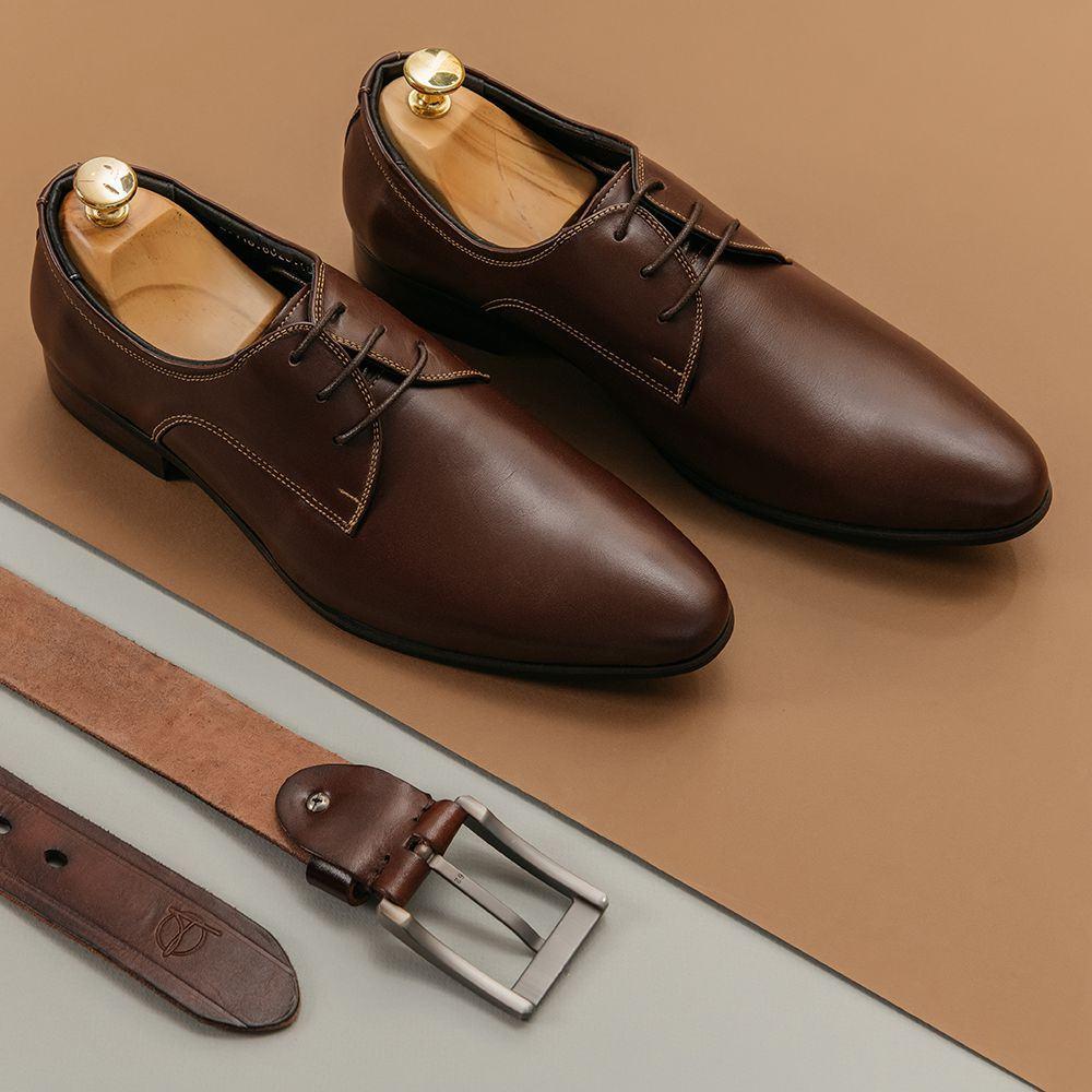 Giày nam công sở kiểu Formal da trơn GNTA8620-N