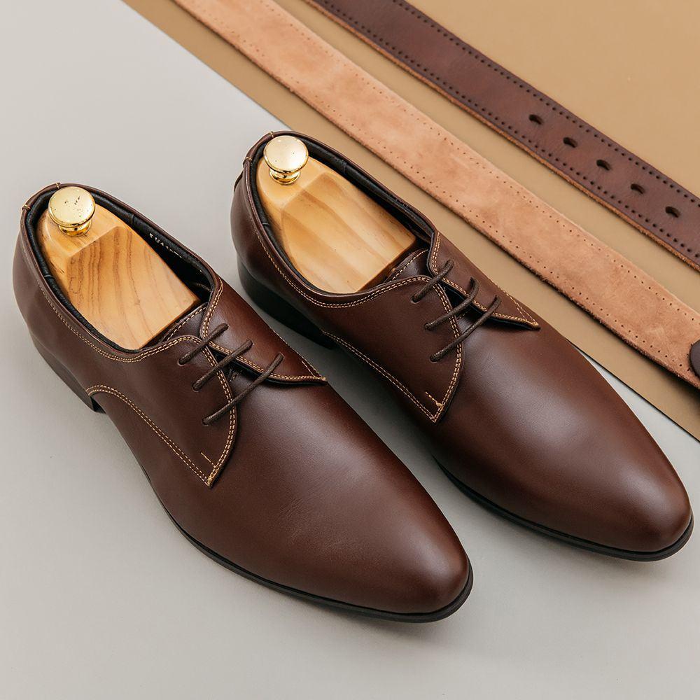 Giày tây nam công sở da trơn GNTA5502-N