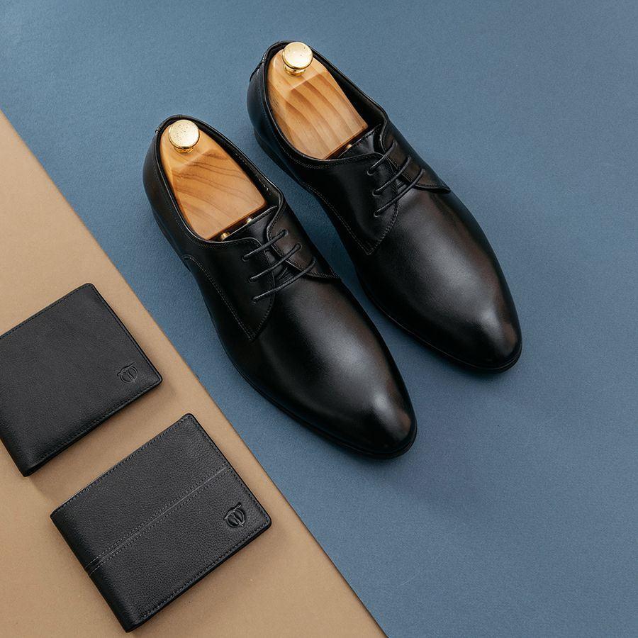 Giày da nam buộc dây da bóng GNTA5502-D