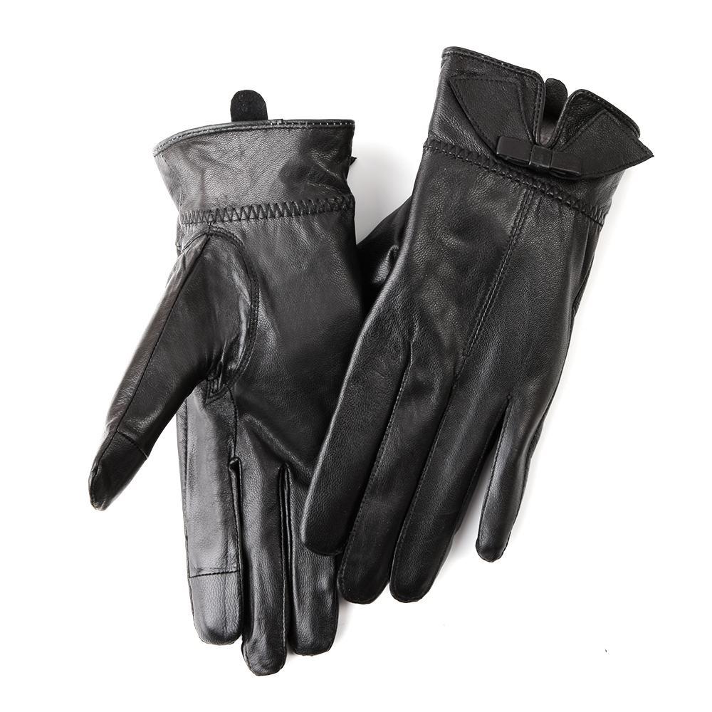 Găng tay nữ cảm ứng da cừu GTCU320-506-L-D