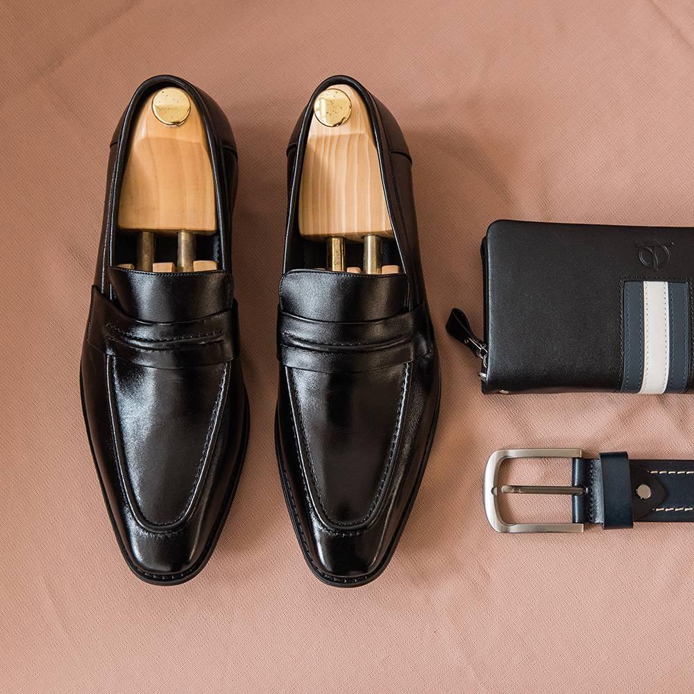 Giày lười nam viền da GNTA3268-D
