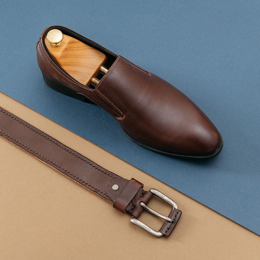 Giày da nam công sở da trơn GNTA5501-N