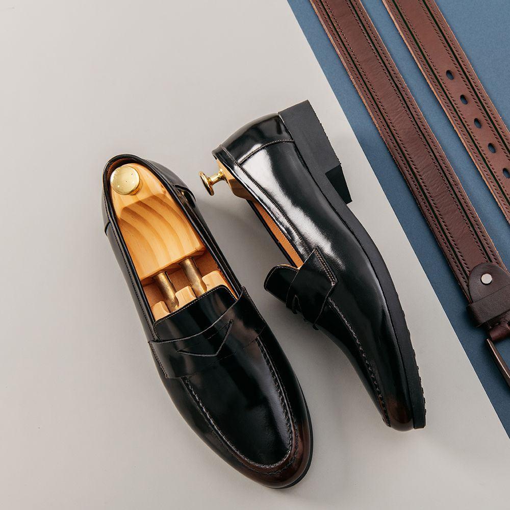 Giày lười nam quai ngang cách điệu GNTA033-D