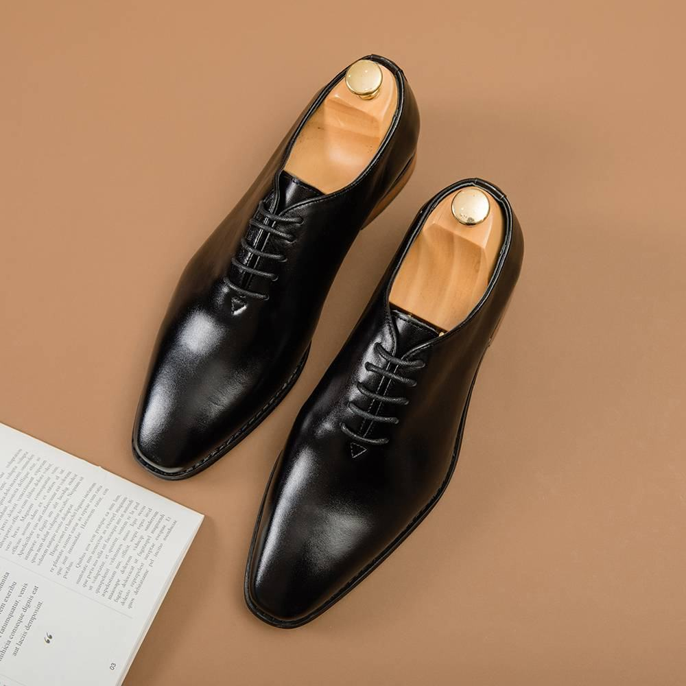 Giày nam da bò dáng basic GNTA8106-D