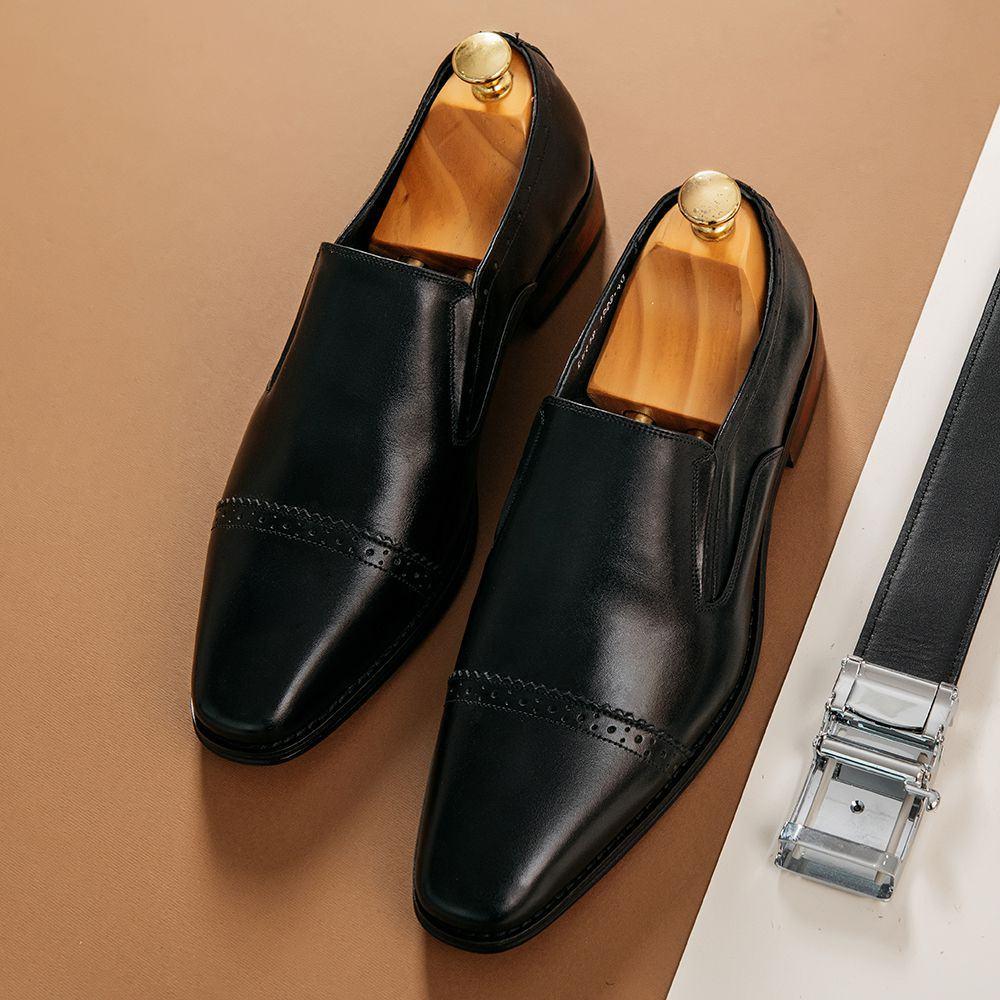Giày lười nam đục lỗ mũi giày GNTA1908-D