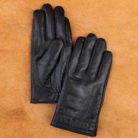 Găng tay cảm ứng da thật cao cấp GTLACUNA-03-D
