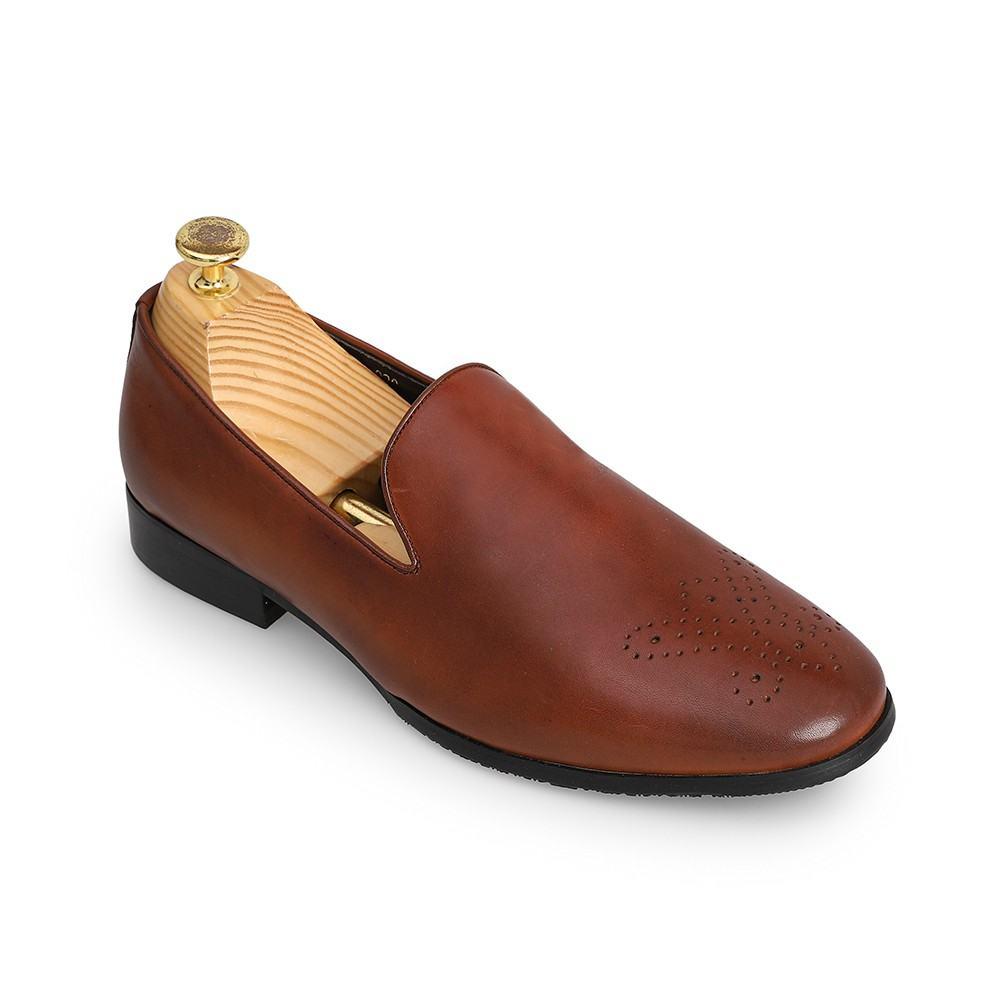 Giày lười da bò nam đục lỗ GNTA020-1-N