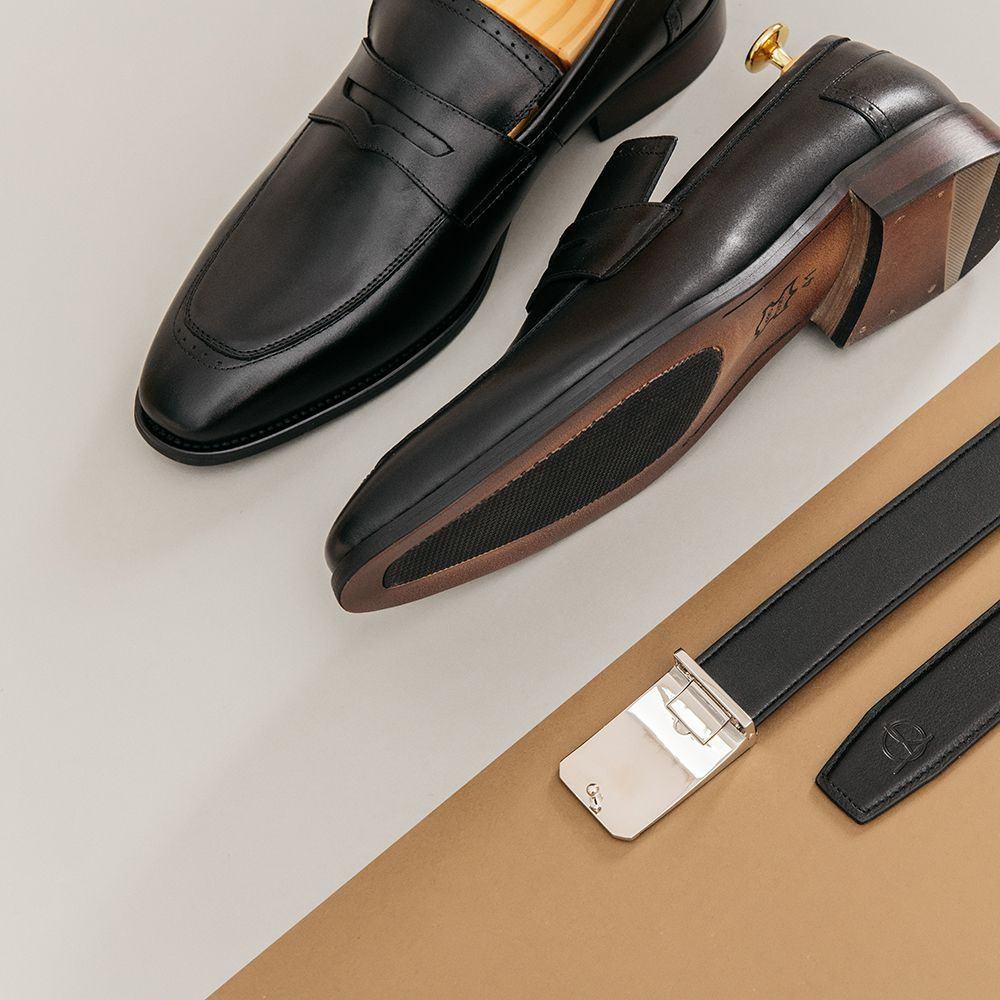 Giày lười nam kiểu dáng Penny Loafer GNTA789-2-D