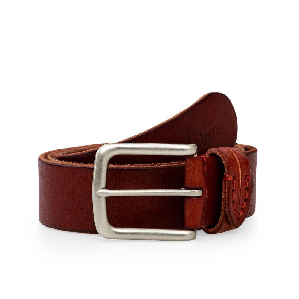 Dây lưng da bò mặt khóa xỏ kim thời trang DJLA180725-N