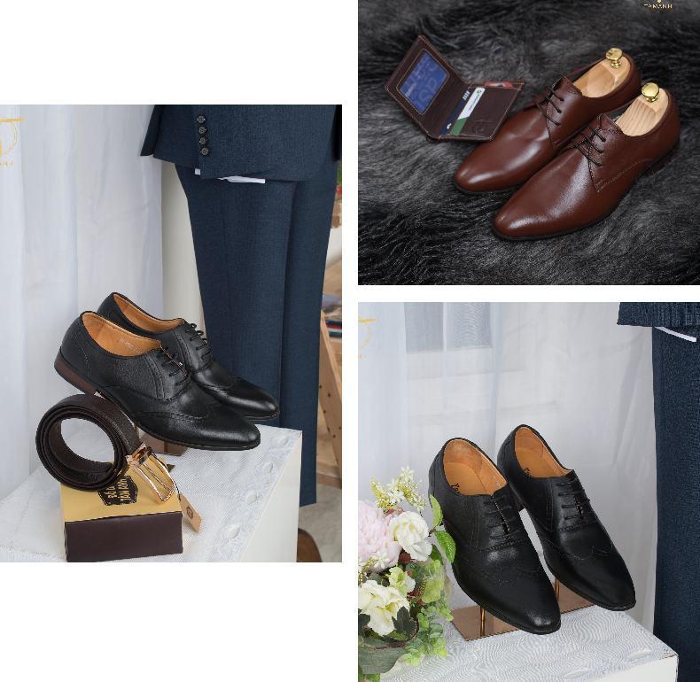 Các mẫu giày cưới nam đẹp nhất, mua giầy tây mặc vest cưới cho chú rể Marry