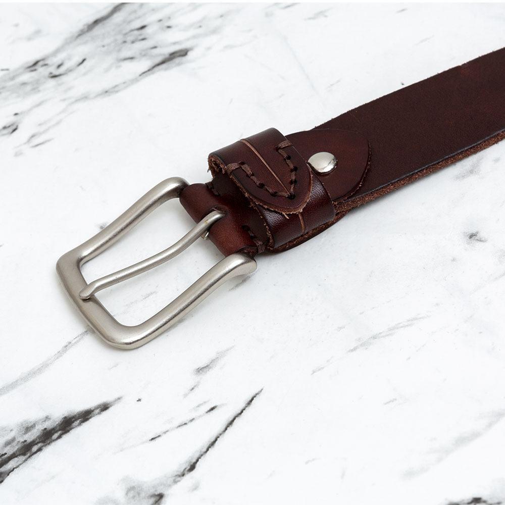 Thắt lưng da bò khóa xỏ kim lịch lãm DJLA180725-CF