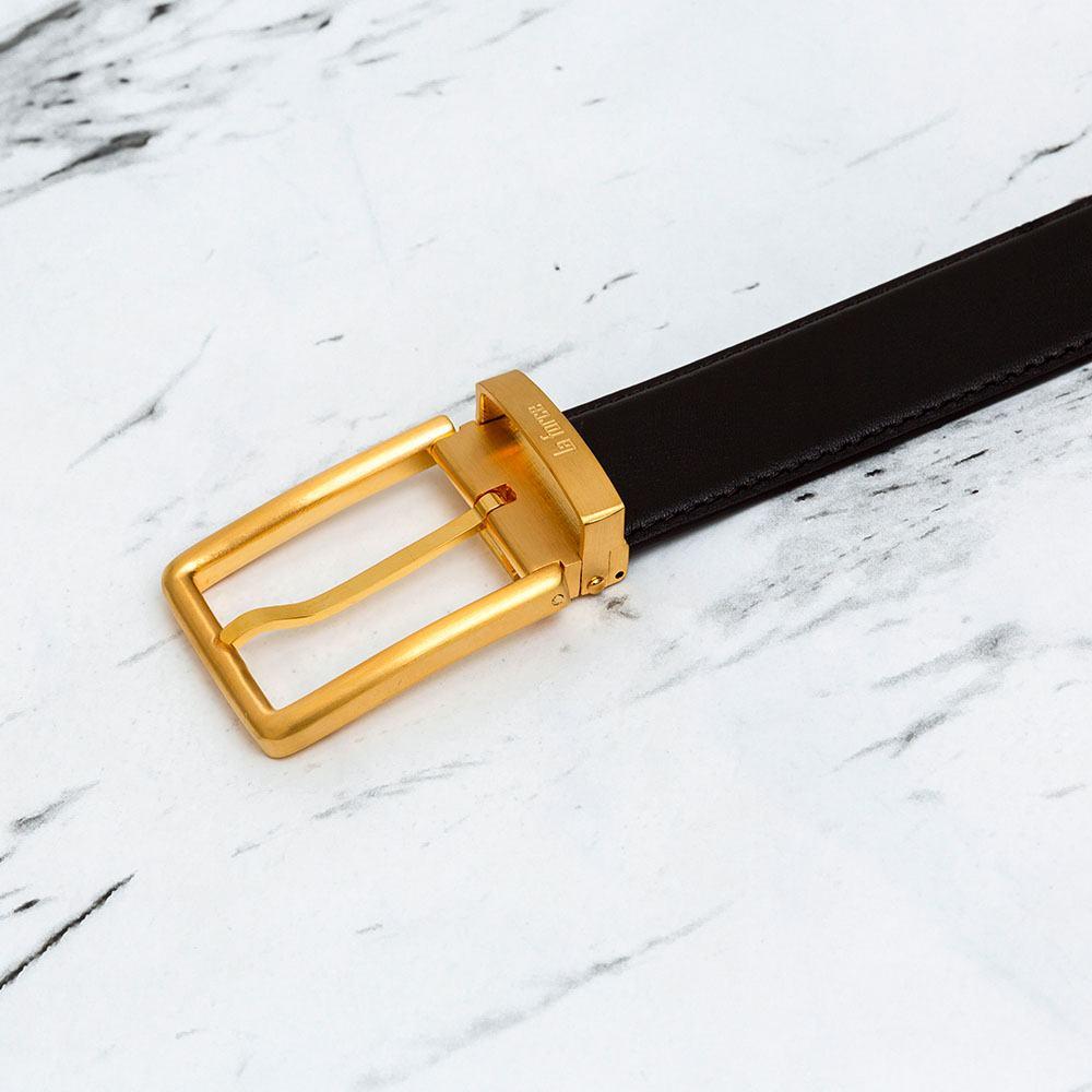 Thắt lưng da bò xịn mặt vàng xỏ kim D590-0180707V