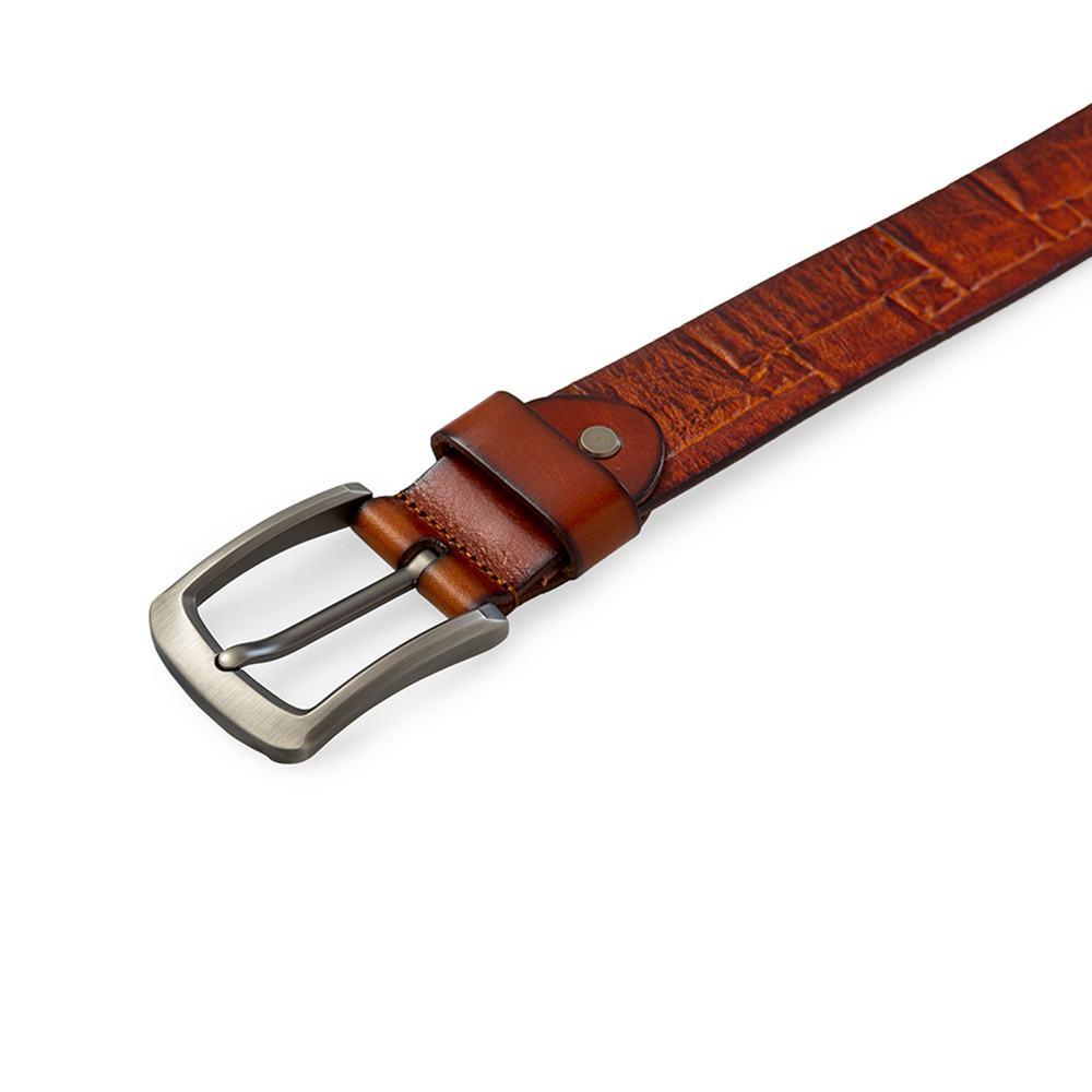 Thắt lưng da bò quần jean mặt khóa xỏ kim DJ216-N