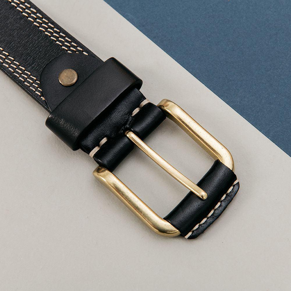 Thắt lưng da bò mặt khóa vàng DJ254-D