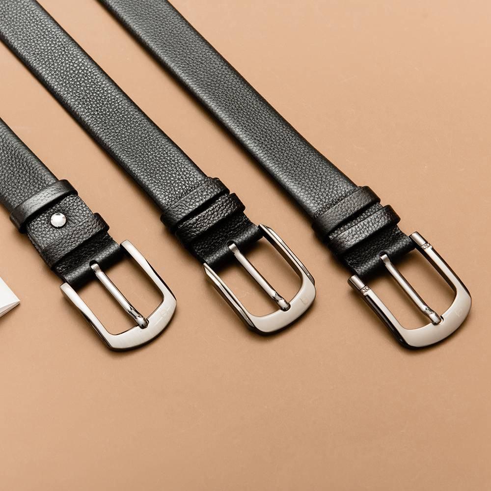 Thắt lưng da nam mặt khóa xỏ kim D310-180911
