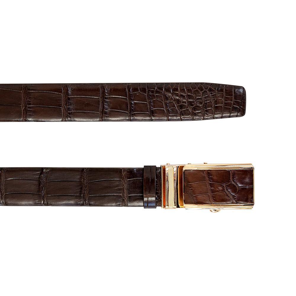 Thắt lưng nam xịn da bụng cá sấu DTA990-02V-B-CF
