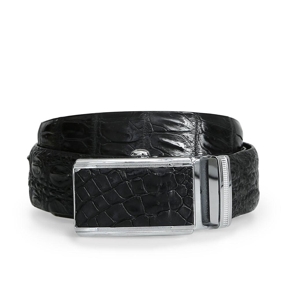Thắt lưng cá sấu đen DTA1150-02B-H-D