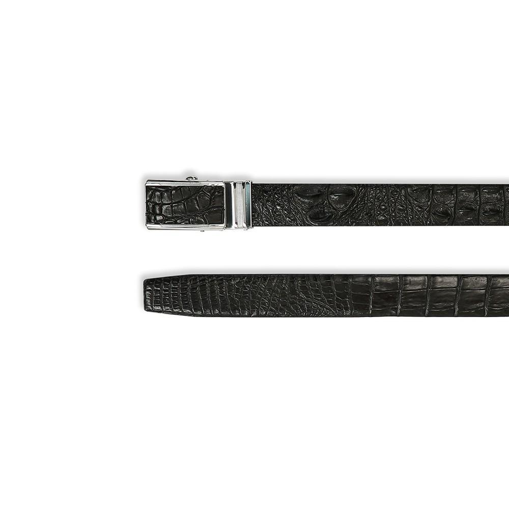 Thắt lưng da cá sấu mặt khóa trượt DTA1150-02B-L-D
