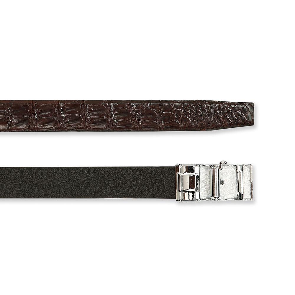 Dây lưng cá sấu màu cà phê lịch lãm DTA990-02-CLDB-CF