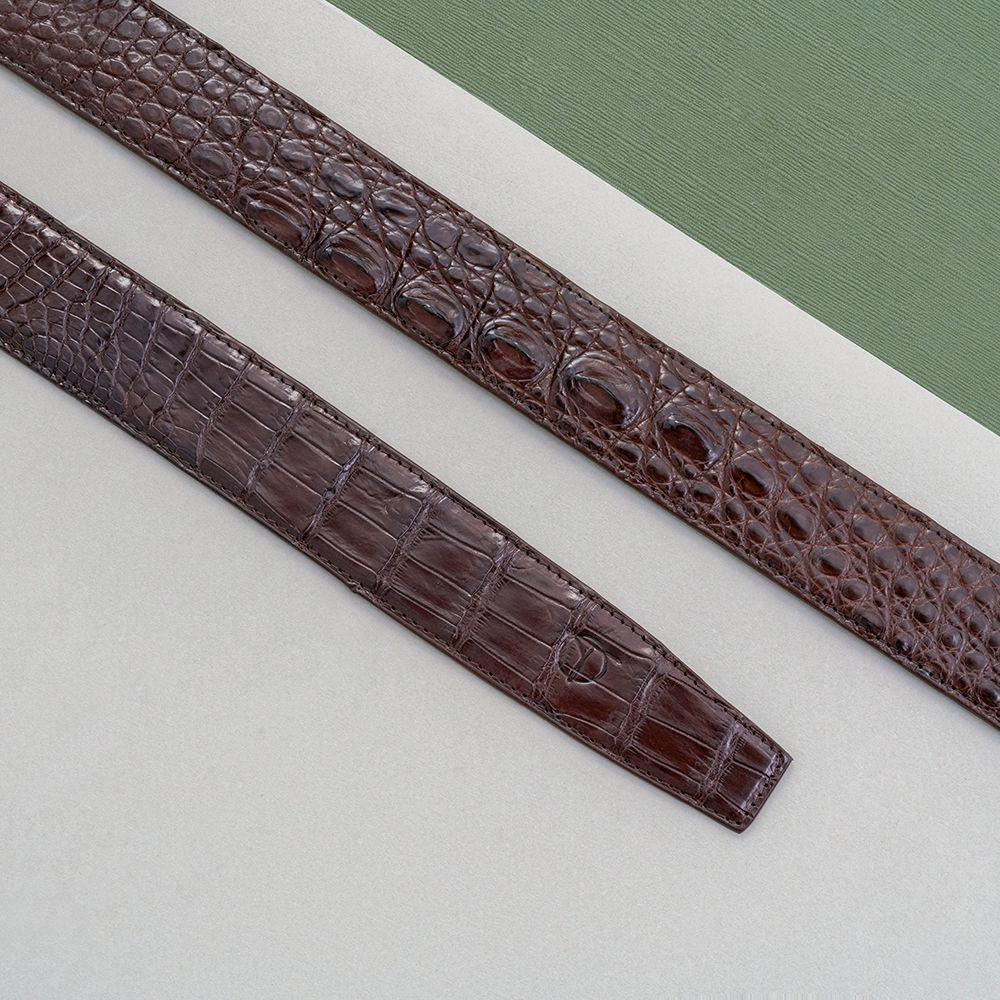 Dây lưng da cá sấu nối bản 3.5 cm DTA990-01B-H-CF