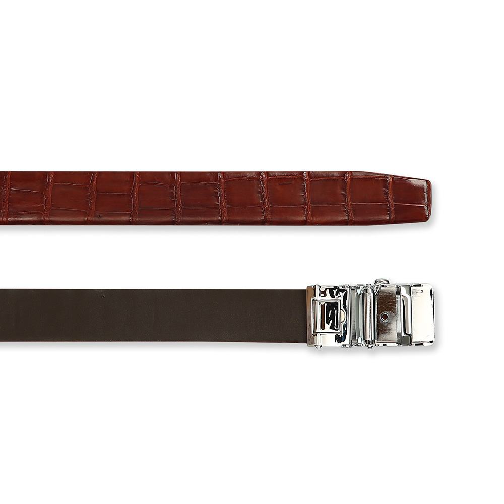 Thắt lưng cá sấu nâu đỏ DTA1150-02B-B-ND