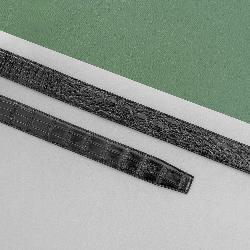 Thắt lưng da cá sấu nối bản 3.5 cm DTA990-01B-H-D