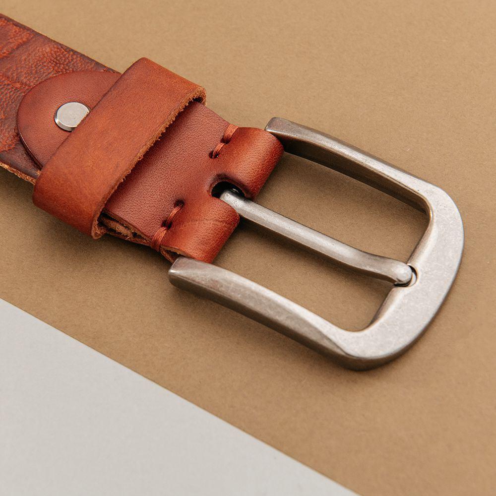 Thắt lưng quần jean nam chất liệu da bò DJ687-N