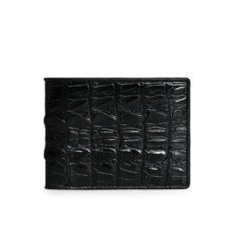 Ví da nam đẹp màu đen lịch lãm chất liệu đuôi cá sấu VTA1350N-D-D