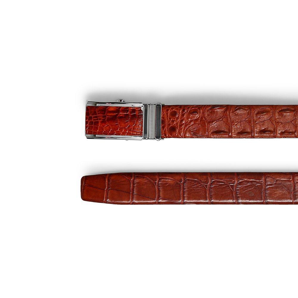 Thắt lưng da cá sấu dây liền bản 3.2 cm DTA1650-02B-G-ND