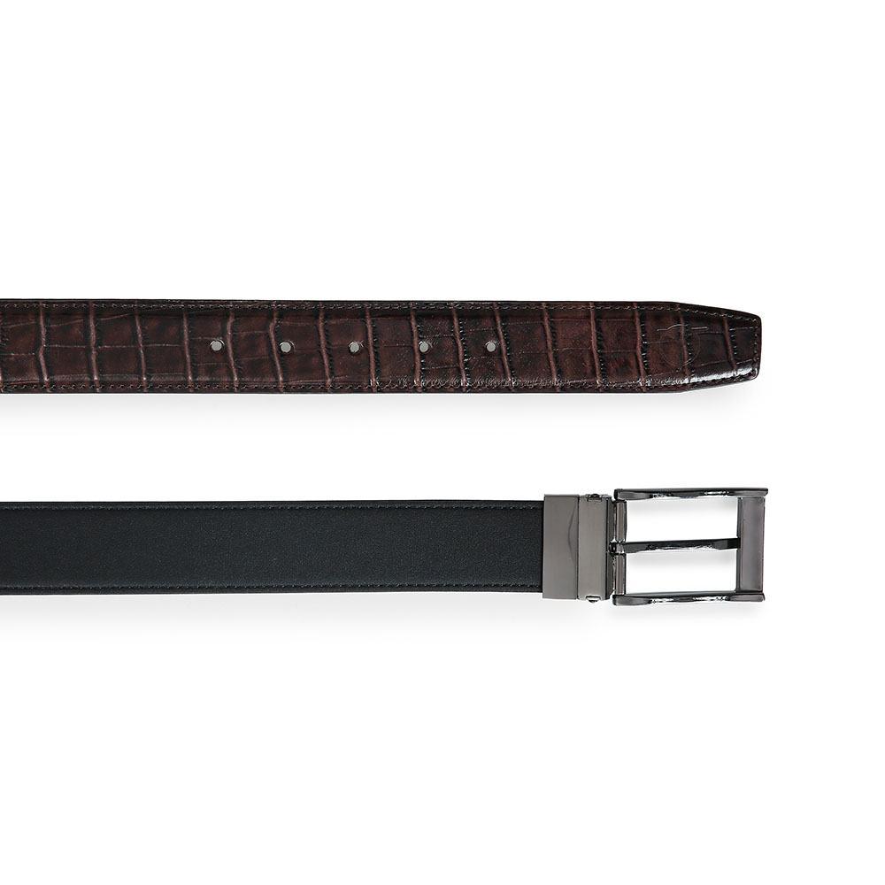 Dây lưng da bò mặt khóa xỏ kim D480-11904D