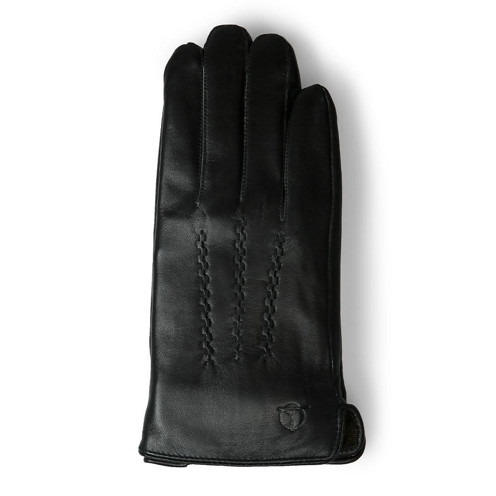 Găng tay da cừu thật màu đen GTTACUNA-14-D