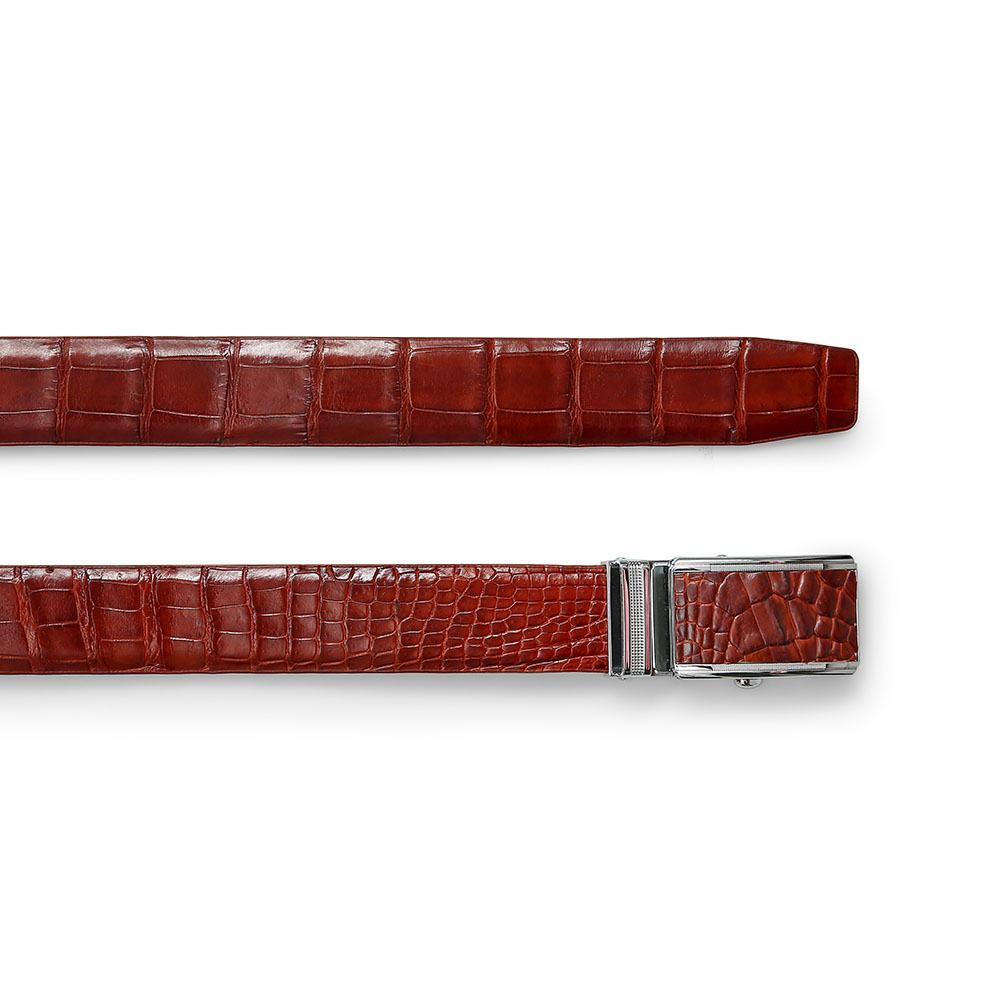 Thắt lưng nam da cá sấu mặt khóa lăn DTA1650-02B-T-ND