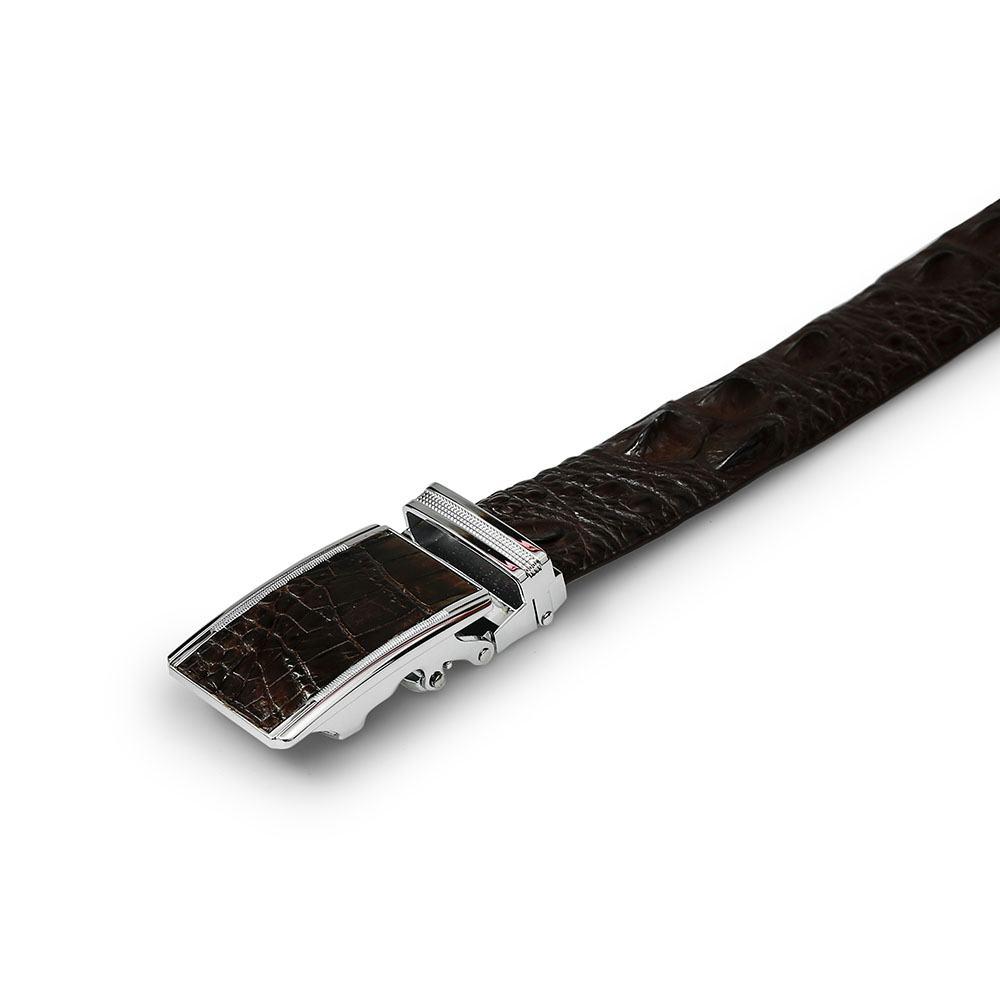 Thắt lưng nam da cá sấu dây liền mặt khóa lăn DTA1650-02B-G-CF