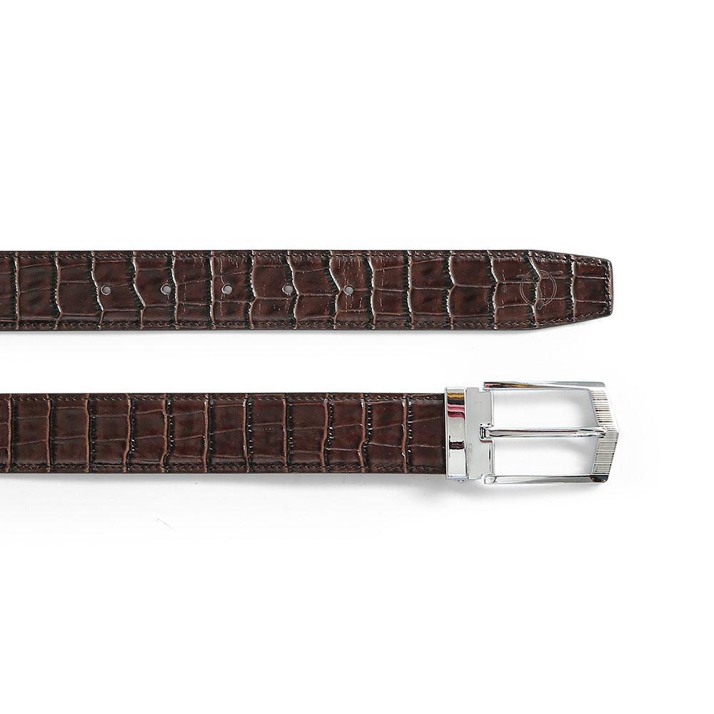 Thắt lưng nam mặt khóa xỏ kim màu nâu D480-814B