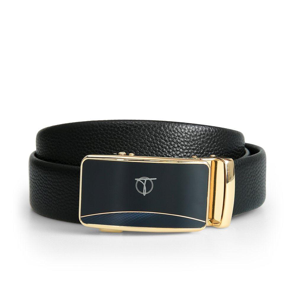 Thắt lưng nam basic mặt khóa vàng D390-201927
