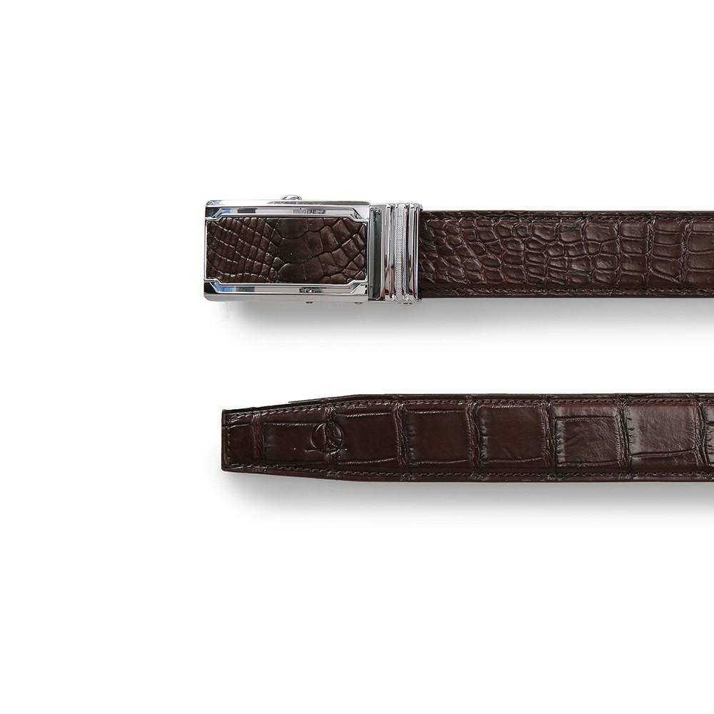 Thắt lưng da cá sấu dây liền bản 3.5 cm DTA1400-03B-T-CF